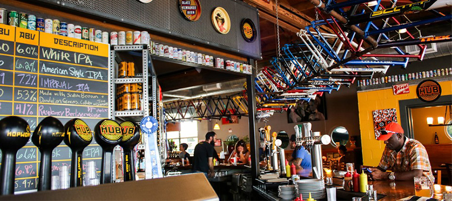 hopworks bike bar interior